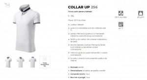 Tricou Barbati Malfini Polo Pique COLLAR UP 256 Alb