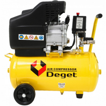 Compresor de aer industrial 24L 1.2kW 200 l/min DEGET BM15-24 V81150