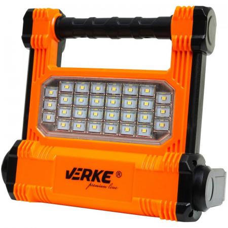 Lampa 30 leduri 10W 1000lm cu acumulator LI-ION 2.2A VERKE V87530