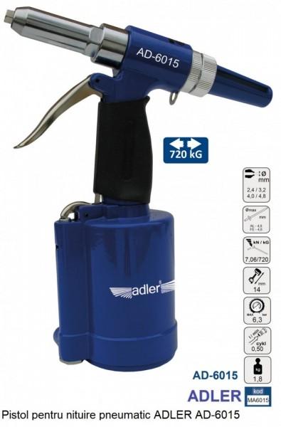 Pistol pentru nituire pneumatic ADLER AD-6015 PROFESIONAL