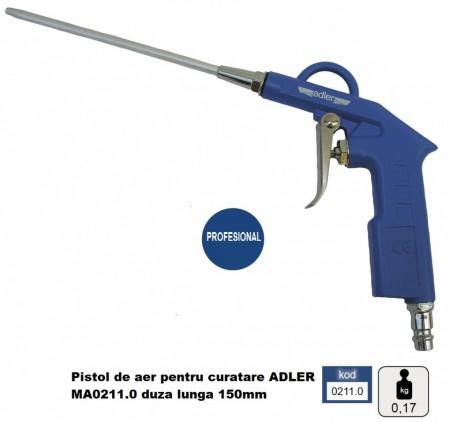 Pistol de aer pentru curatare ADLER MA0211.0 duza lunga 150mm