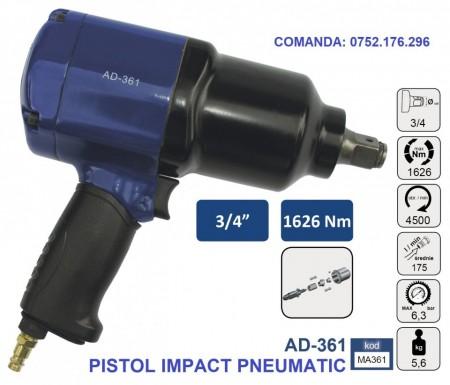 "Pistol Impact pneumatic 1626Nm 6.3 bari 3/4"", ADLER AD-361 Profesional"