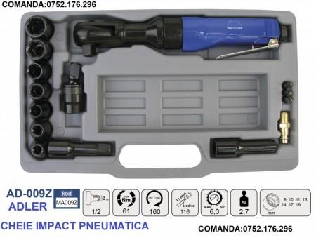 "SET Cheie pneumatic 61Nm 6.3 bari 1/2"" ADLER AD-009Z PROFESIONAL"