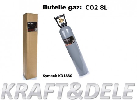 Butelie 8 litri, pentru Ar+CO2 KraftDele KD1831