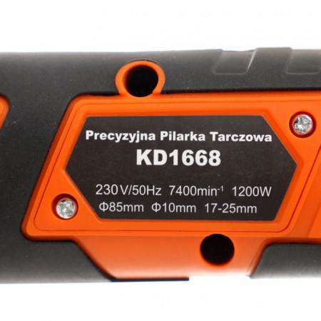 Fierastrau circular de precizie 1200W 85mm 7400rpm KraftDele KD1668