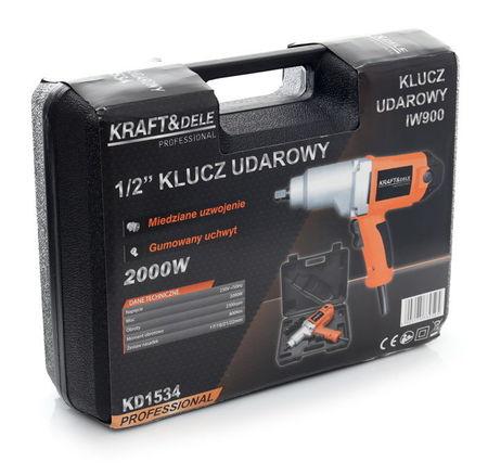 Pistol Impact electric 2000W 220V 800Nm KraftDele KD1534