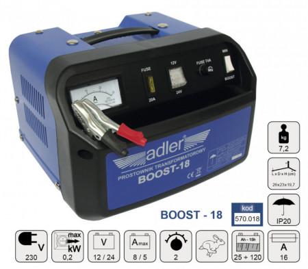 Redresor transformator auto 120Ah 12/24V ADLER BOOST-18 MA570.018