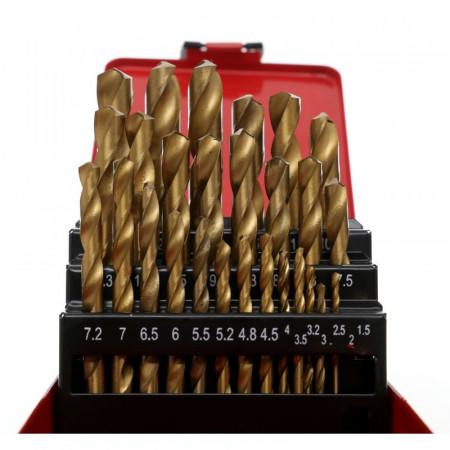 Set burghie metal in cutie metalica 29 de elemente 12.7mm KraftDele KD10344