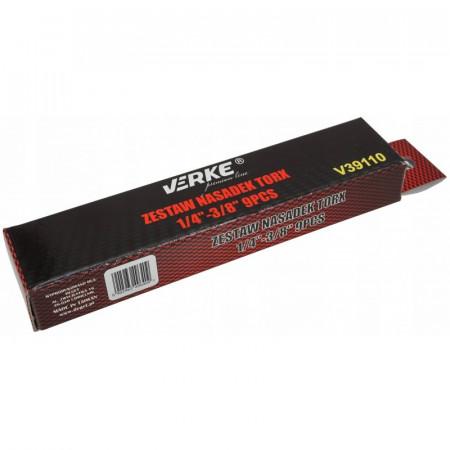 """Set chei TORX 1/4 - 3/8"""" E5-E16 9 elemente VERKE V39110"""
