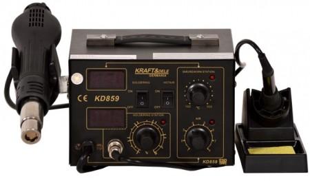 Statie de lipit cu aer cald si letcon 3 in 1 700W KraftDele KD859 TBC