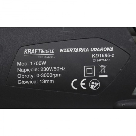 Bormasina cu trei functii 13mm 1700W KraftDele KD1686-Z