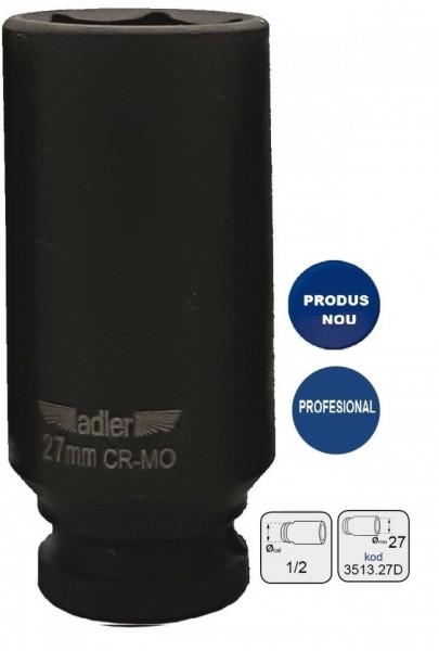 "Cheie tubulara de IMPACT 1/2"" ADLER AD-3513.27D 27mm varianta lunga"