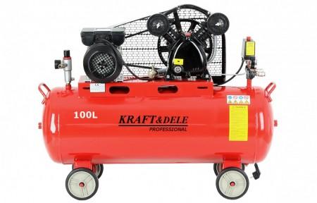 Compresor de aer industrial 100litri, 2.8kW, 240l/min KraftDele KD1472