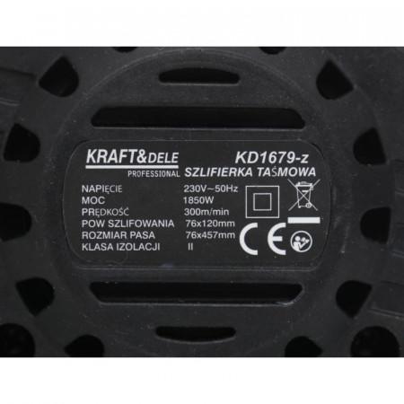 Masina de slefuit cu banda 1850W 76x120mm KraftDele KD1679-Z