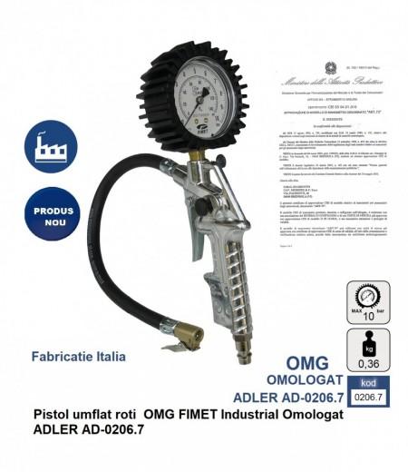 Pistol umflat roti OMG FIMET Profesional Omologat ADLER AD-0206.7