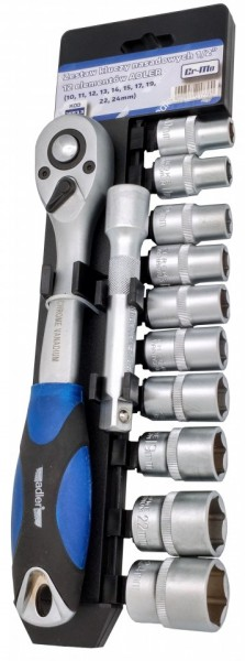 """Set de chei tubulare cu clichet 12 elem. 1/2"""" 10-24mm ADLER MA3553.3"""