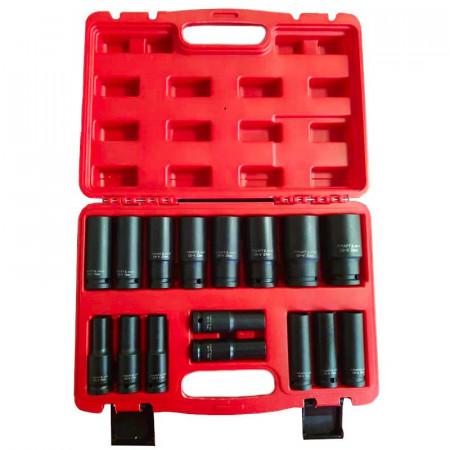 "Set de chei tubulare IMPACT 16 piese 10-32mm 1/2"" KD10531 Kraftdele"
