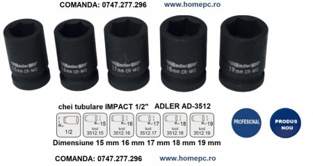 "Cheie tubulara de IMPACT 1/2"" AD-3512.18 18mm"