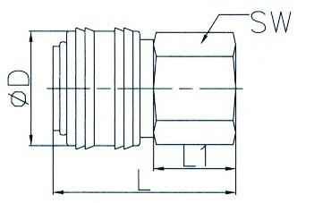 "Cupla rapida aer, alama, filet interior 1/4"" ADLER MA3023.1"