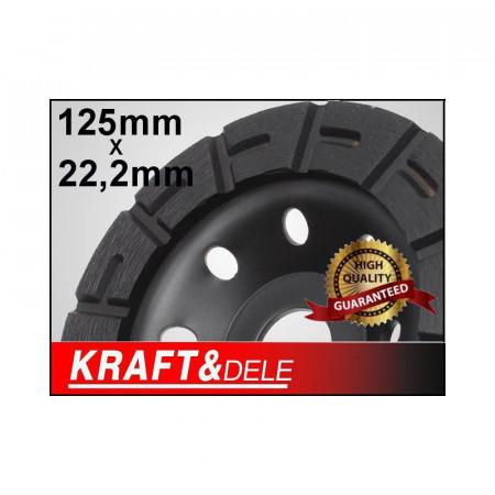 Disc diamantat pentru slefuit 125mm x 22.2mm KraftDele KD1958