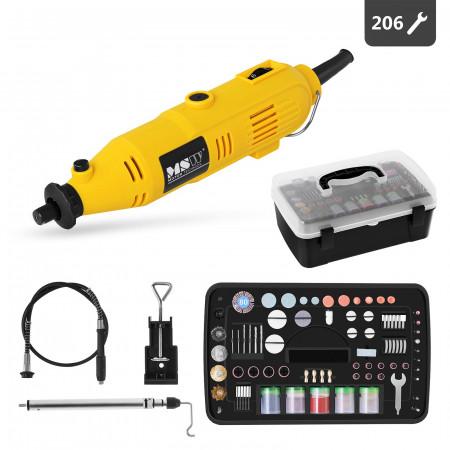 Mini freza electrica 135W 220V 206 piese MULTI-GRIN135.3 MSW 10060242