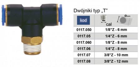 "Conector PB (tip T cu filet) 12mm 3/8"" MA0117.08"