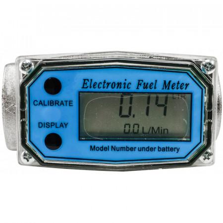 "Contor electronic LCD pentru pompe transfer motorina 1"" VERKE V80213"