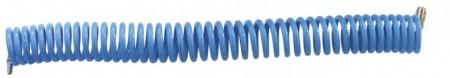 Furtun spiralat conectori aer comprimat din PU  6 x 4mm; 3m; 11-32 bari. ADLER AD0140.7