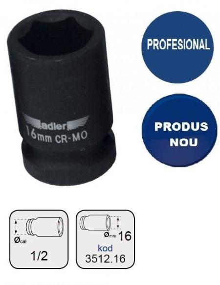 "Cheie tubulara de IMPACT 1/2"" AD-3512.16 16mm"