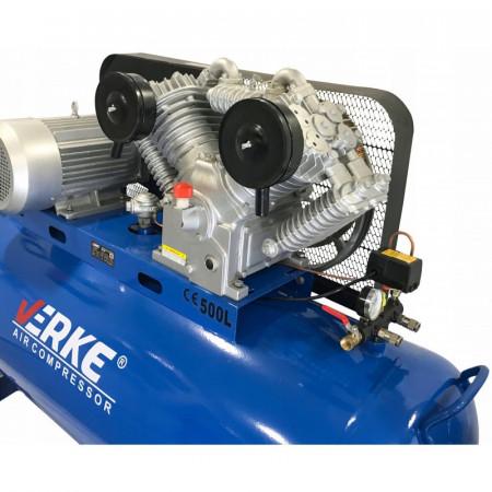 Compresor de aer industrial 500L 7.5kW 1050L/m 12.5bari VERKE V81130