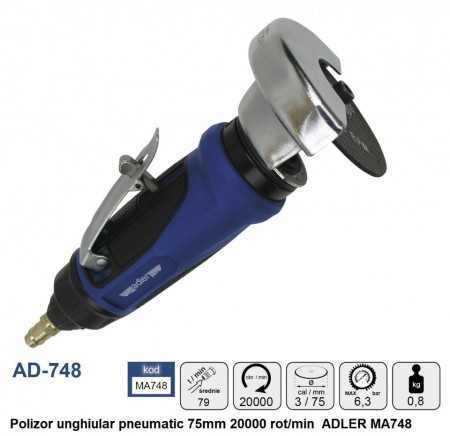 Polizor unghiular pneumatic 75mm 20000 rot/min ADLER MA748
