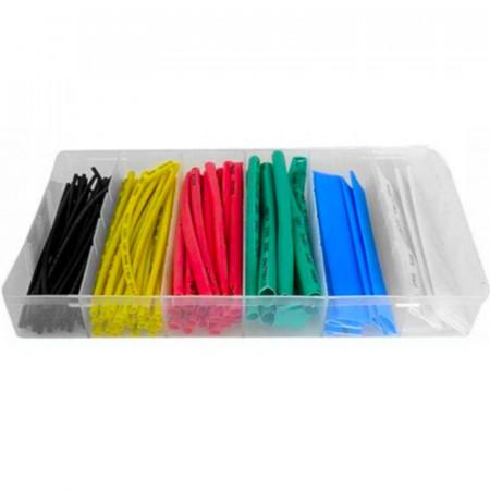 Set 100 tuburi termocontractabil 6 dimensiuni - multicolor KD10918 Kraftdele