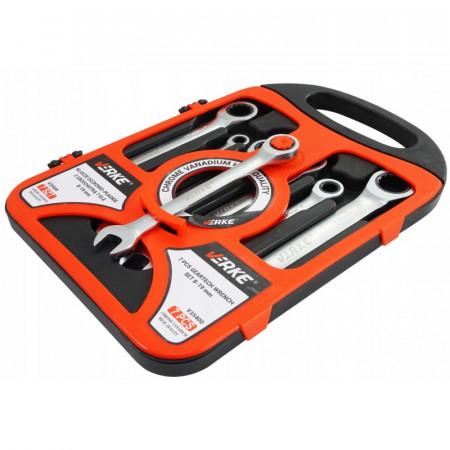 Set chei inelare articulate cu clichet 7 piese VERKE V35400