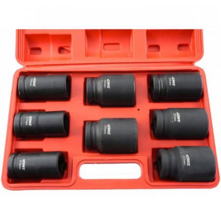 """Set de chei tubulare IMPACT 8 piese 24-38mm 3/4"""" V39470 VERKE"""
