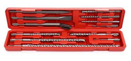 Set scule SDS+ 9 burghie si 3 dalti cutie plastic KraftDele KD10206