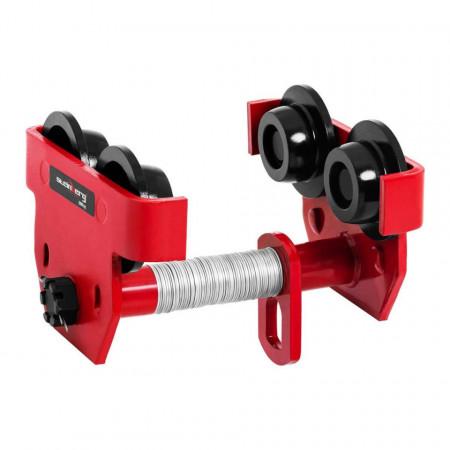 Carucior macara grinda metalica - 2.000 kg - lățimea flanșei 110-200 mm STEINBERG 10030426