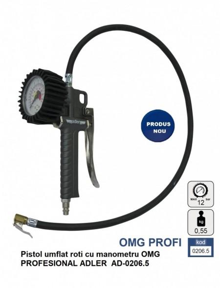 Pistol umflat roti cu manometru OMG PROFESIONAL ADLER AD-0206.5