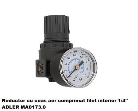 """Reductor cu ceas aer comprimat filet interior 1/4"""" ADLER MA0173.0"""