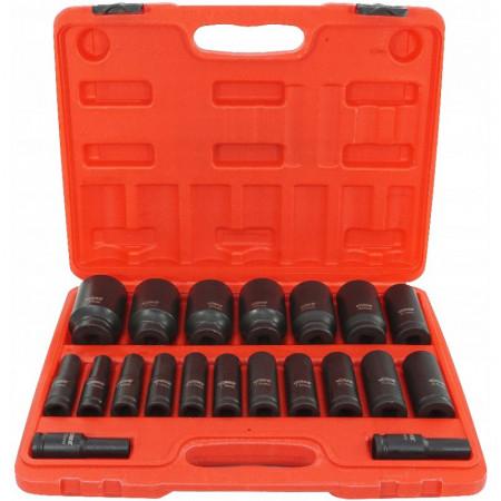 """Set de chei tubulare IMPACT 20 piese 10-38mm 1/2"""" V39463 VERKE"""