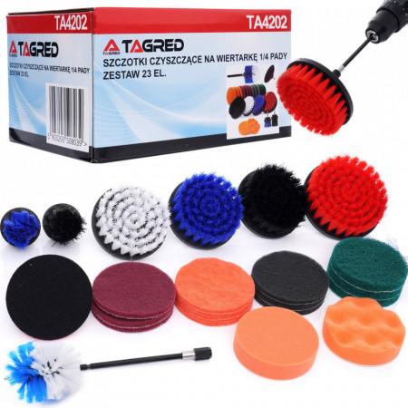 Set de perii curatare pentru bormasina 23 elemente 1/4 TA4202 Tagred
