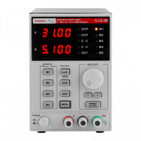 Sursa tensiune de laborator 0-30V 0-5A DC 250 W 4 memorii 10021060 Stamos Soldering