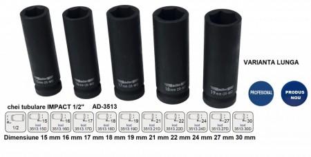 "Cheie tubulara de IMPACT 1/2"" ADLER AD-3513.24D 24mm varianta lunga"