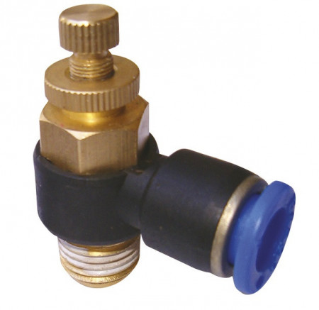Drosel pneumatic SL CONECTOR PLASTIC TIP L CU REGLAJ DEBIT 3/8'' 10mm MA0118.14