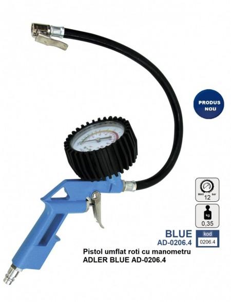 Pistol umflat roti cu manometru ADLER BLUE AD-0206.4
