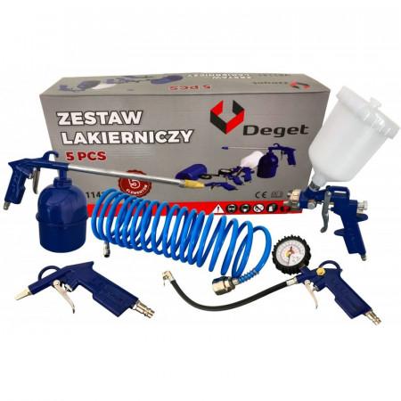 Set aer comprimat, pistol pneumatic, vopsit 5 piese Deget V81141