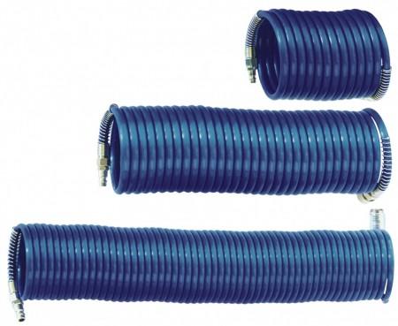 Furtun spiralat conectori aer comprimat din PA 8x6mm  10m 24/71 bari ADLER MA0139.2