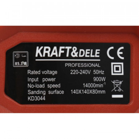 Masina de slefuit cu talpa prin vibratii 900W KraftDele KD3044