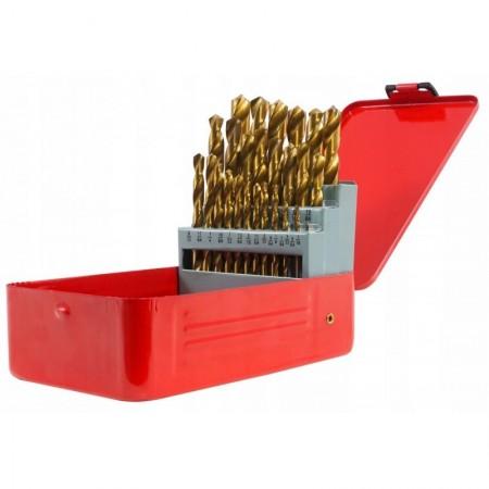 Set burghie metal in cutie metalica 29 de elemente 12.7mm VERKE V05071