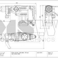 Ciocan rotopercutor 1600W SDS-Plus 25 joule BOH-1600 MSW Germania