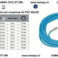 Furtun drept cu conectori aer comprimat din PVC 15x10mm 15m ADLER AD0142.52